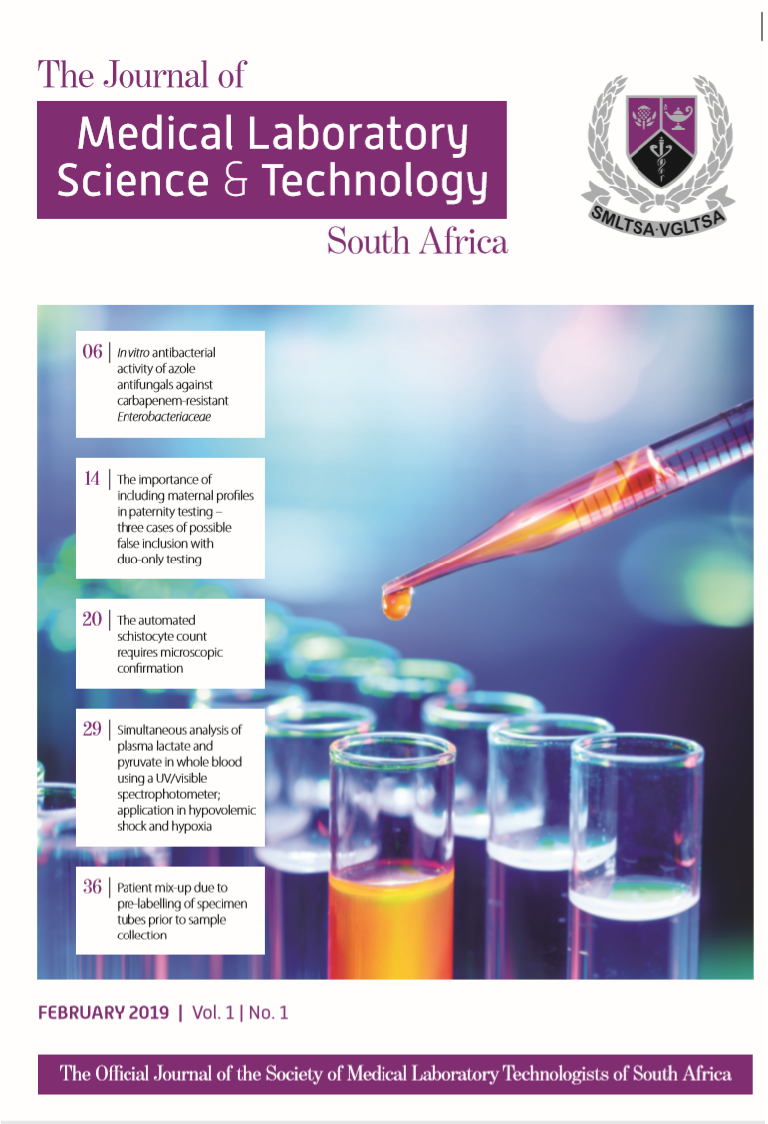The Journal of Medical Laboratory Science & Technology South Africa